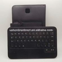 Black bluetooth keyboard case for Samsung galaxy note 8.0 N5100