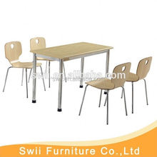 Modern matel dining table canteen tables and chairs