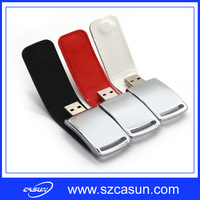 Promotional Leather USB Disk USB Flash Drive with Logo