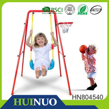 High quality children swing set with basketball hoop HN804540