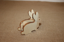 decorative cute wooden Sticky Tape Dispenser in rabbit shaped
