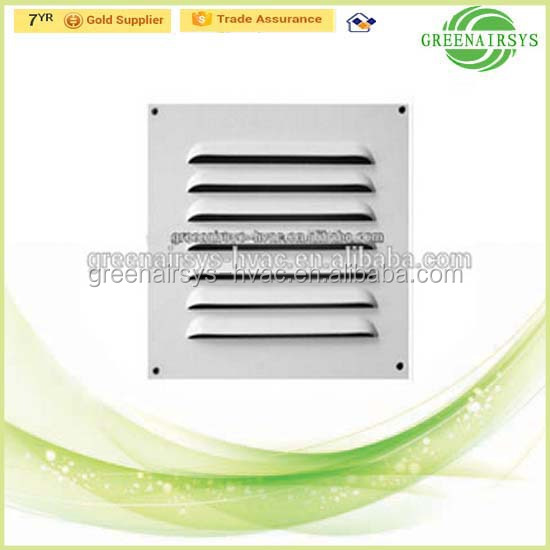 Air Conditioning Square Rain-Proof Air Louver Outlet with Mesh for External Wall Vents