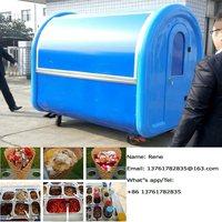 Good Price Spagetti Ice Cream Street Vending Cart Trailer Food Wagon With CE