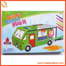 Hot selling educational toys kids intelligent 3d puzzle diy drawing model car toy OT95128601D