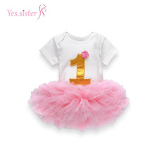 Fashion Kids Modern Girl Wear 1 Year Birthday Party Tutu Dress Wholesale