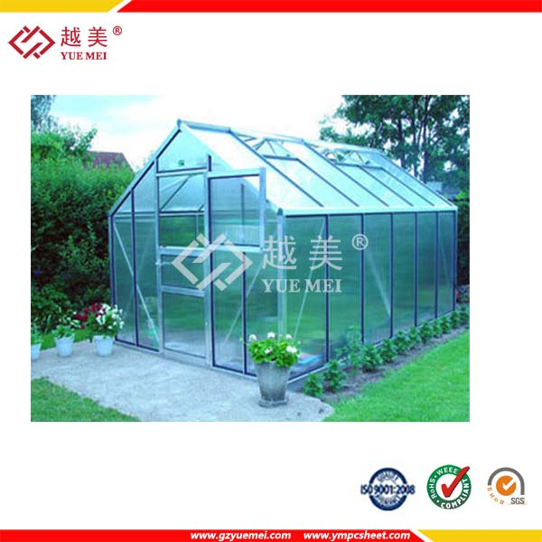 10 years guarantee Twin wall poly carbonate hollow sheet for roofing, covering , rain protection