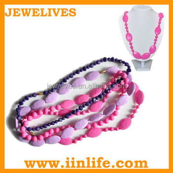 High demand products artificial costume silicone teething jewellery
