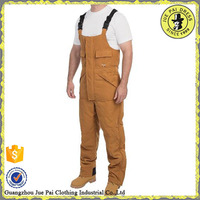 Customized fashion khaki bib overalls in workwear for mens manufacturer