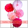Mixed color Tissue Paper Pom Pom Flowers Ball for Festival Wedding Birthday Party