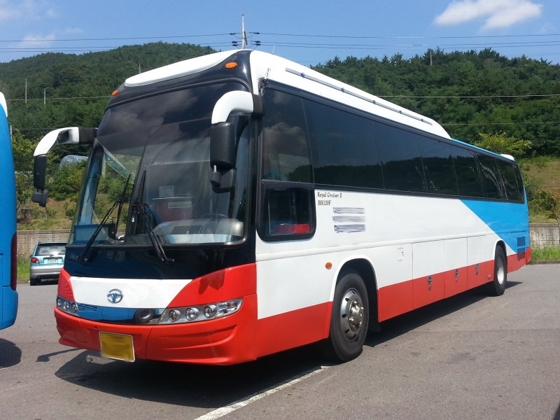 2007Y USED Daewoo Bus PRICE DOWN BH120 FOR SALE FROM KOREAN