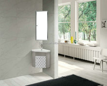 Cheap Price Bathroom Stainless Steel Cabinet Corner Mouned Vanity With Mirror Cabinet No 9555B