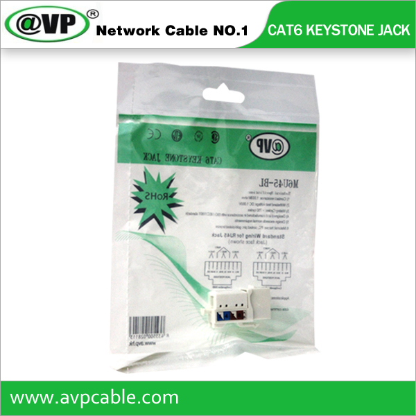 High speed utp Cat6 keystone Jack rj45 Module tool less