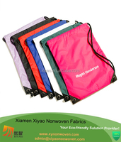 100% recycbable polyester small drawstring bags for sports