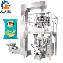 Multi Heads Weigher Stainless Steel Automatic Puffed Food Potato Chips Packing <strong>Machine</strong>