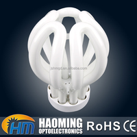 Hot selling e27 3000K glass PBT 3w 5w 7w 9w energy saving lotus bulb cfl lighting