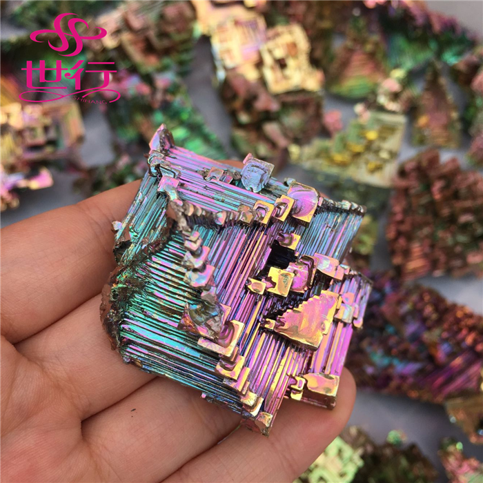 wholesale raw natural Bismuth iron ore for art collectible