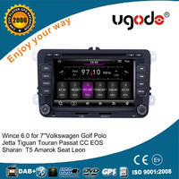 ugode wholesale wince 6.0 DPS audio autoradio 2 din for vw skoda octaria seat leon fabia rapid