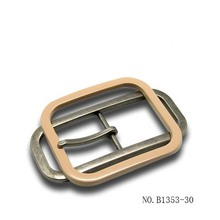 center bar buckles with single pin purple belt buckle
