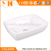 Guangdong bathroom top mount porcelain commercial sink beauty