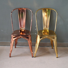 Wholesale cheap steel industrial Gold Chair Luxury metal Dining Chair