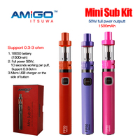 Rechargeable 18650 battery electronic cigarette ego vapor kit