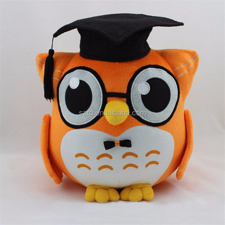 Customized mini plush animal toy/high quality owl plush doll/cute owl plush doll for kids