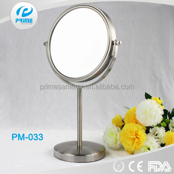 PRIME High-end nickel free standing round makeup cosmetic mirror