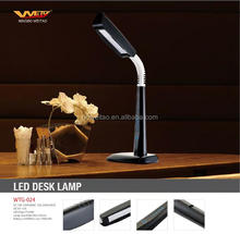 10W Modern Design ABS Plastic touch dimmer led desk lamp