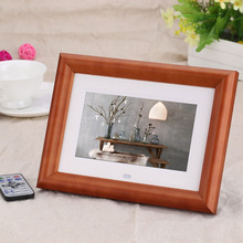 high resolution digital screen promotional commercial gift 7 inch HD wooden frame digital photo frame