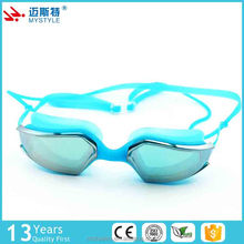 New coming simple style mirror coating anti uv swimming goggles