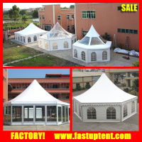 Clear roof transparent hexagonal hexagon pagoda tent