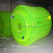 Super beautiful and fabulous fluorescent green clear inflatable walking water roller, inflatable ball