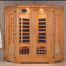 hemlock 4 person steam sauna wet steam sauna room, four person cheap indoor spa Finnish sauna
