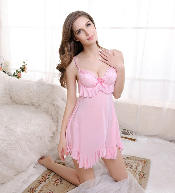 Comfortable Fabric Embroidery Sexy Indian Girls Lingerie Sexy Babydoll