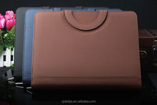 four ring PU leather folder with calculator