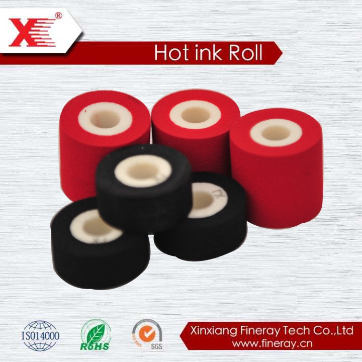 XJ XF Black expiry date printing hot ink roll printing chemical for ink rollers hot code printer roll