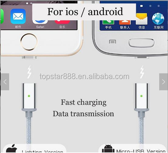 Both sides charging Fast 2.4A Magnetic Micro usb magnetic charging cable for all mobile phone