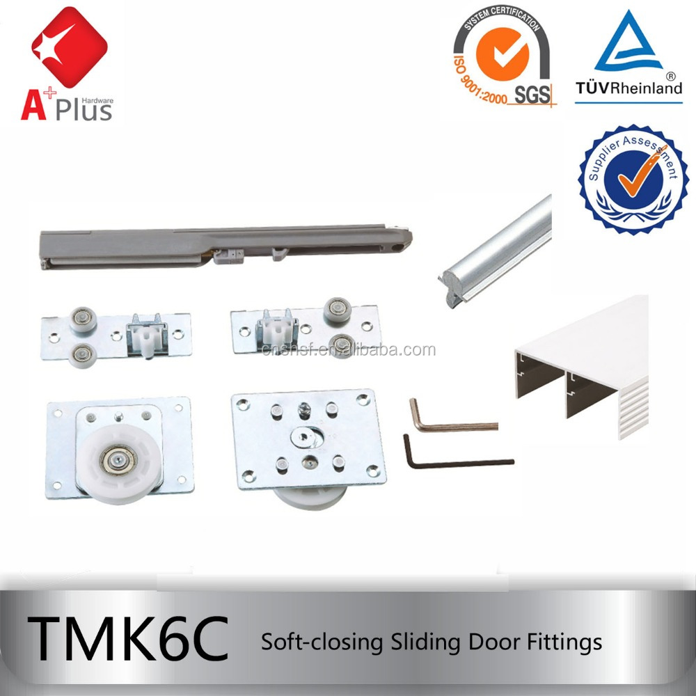TMK6C soft closing heavy duty wardrobe door sliding mechanisms