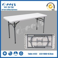 4ft,48inch,122cm folding HDPE plastic table blow mold foldable picnic tables