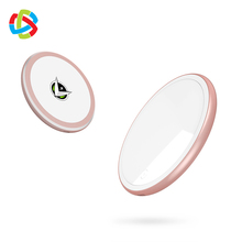 Qi Round Wireless Charger For Mobile Phone with LED Lamp Make-up Mirror