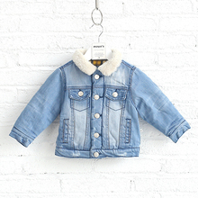 Comfy and laidback bulk wholesale childrens jeans jacket for boy