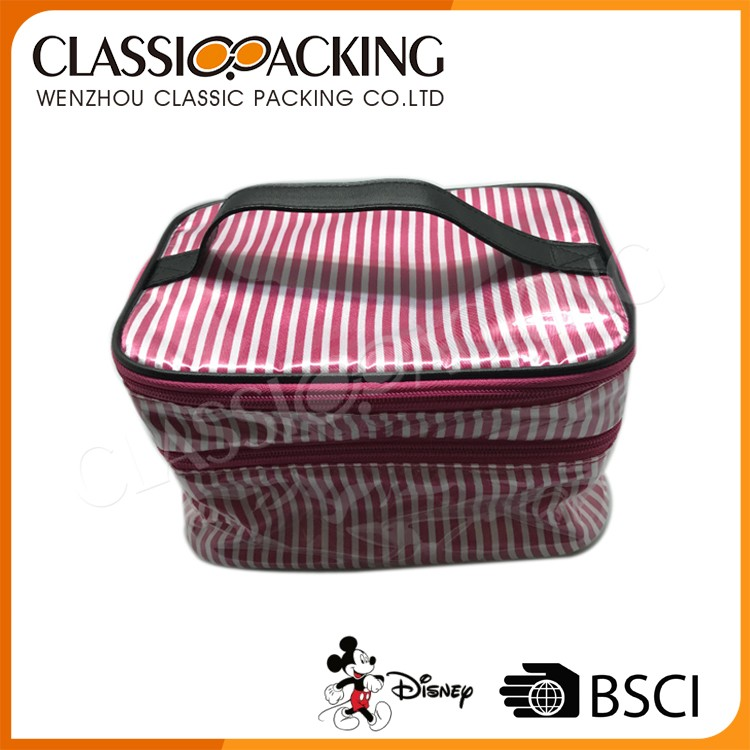 Customized Various Pu Large Cosmetic Bag With Compartments