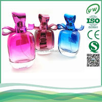 100ml bow cap high quality best selling lady perfume glass bottle