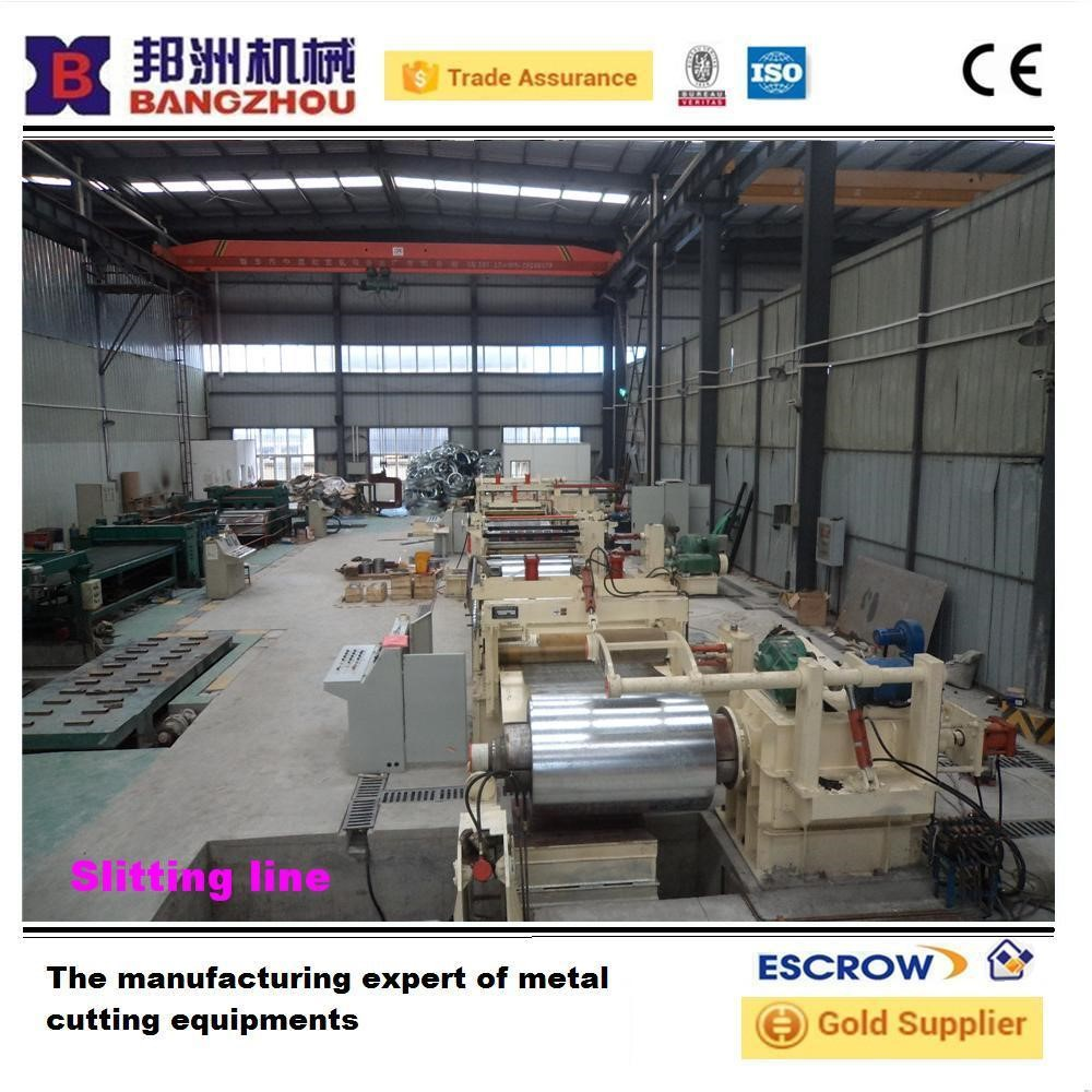 china Automatic hydraulic steel coil unwinder slitting line