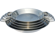 Wholesale Kitchen Appliances Stainless Steel Seafood Pan/Mini Paella Pot big Frying Pan Set