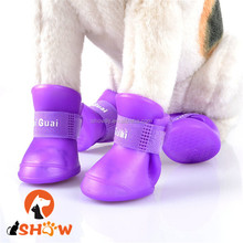 Anti-Skid Boots Waterproof Dog Shoes Protective Silicone Anti-Slip Sole Rain Boots
