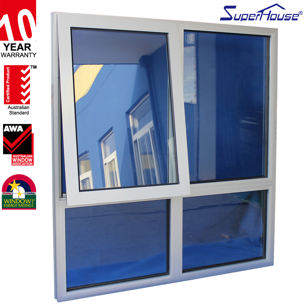 Europe style awning aluminum window with grill new design