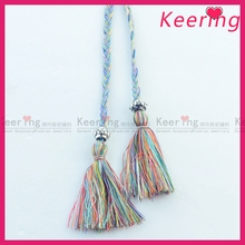 New arrival colourful 0.5cm diameter tassel fringe for bag WTR-001