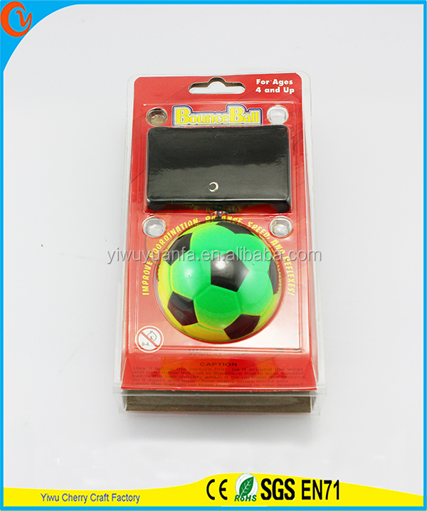 Hot Selling Funny Toy Green Rainbow Soccer Wrist Rubber Bounce Ball
