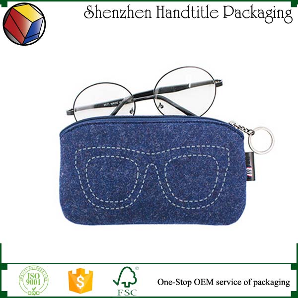 Cheap promotional zipper felt pen bag,felt bag